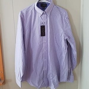 Black Brown 1826 button up checked shirt L/G